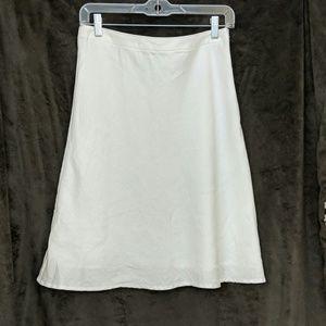 Talbot's petite white linen skirt size 6p